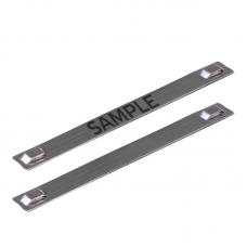 Бирка кабельная стальная МБC (304) 89х10 с лазерной маркировкой